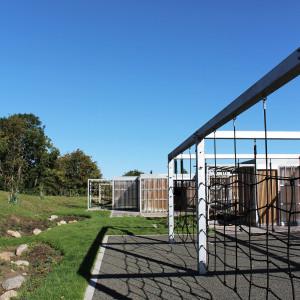 Udendørs aktivitets- og læringsområde, Langagerskolen, Aarhus, Legeredskaber
