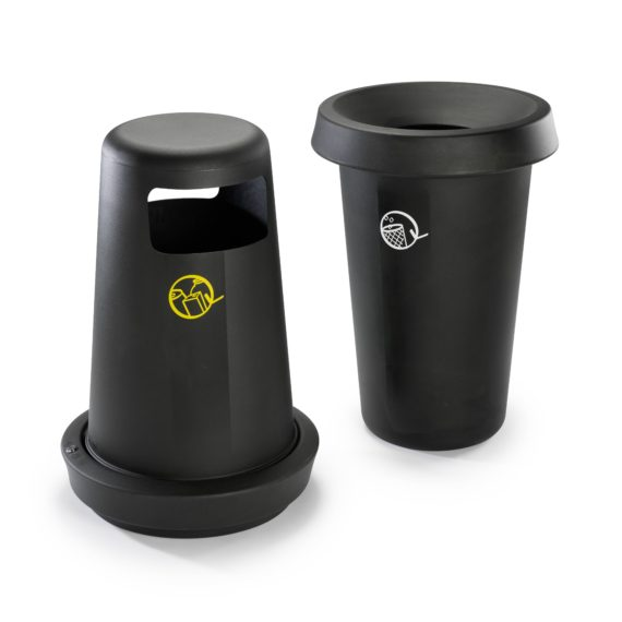 Giro affaldskurve og affaldsspande