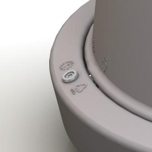 Giro affaldsspand, detalje
