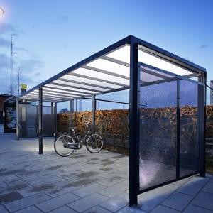 Frame Overdækning, cykelskur på Esbjerg Banegård