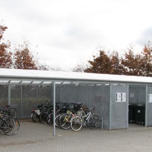 Cykeloverdækning og containerskjuler