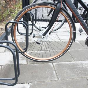 Frame Cykeloverdækninger, detalje med cykelstativ