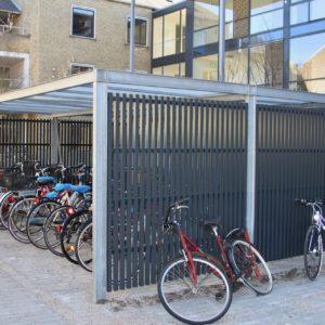 Keep cykeloverdækning med lister i aluminium ved Lyngby-Taarbæk kommune