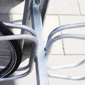 Frame Overdækning, detalje med cykelstativ, Sønderbro