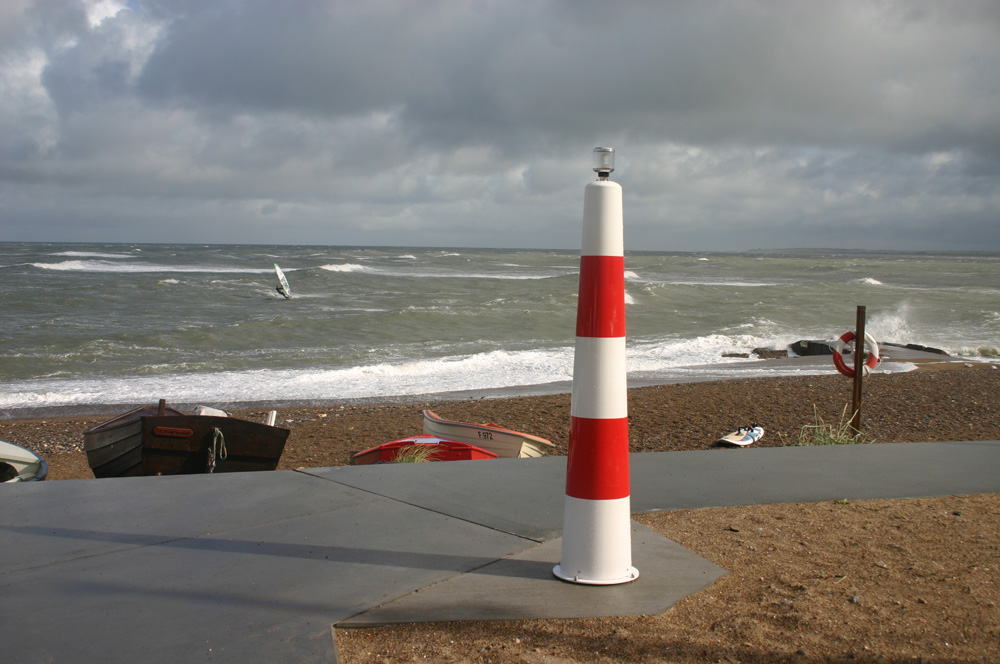 Lighthouse Pullert ved strand