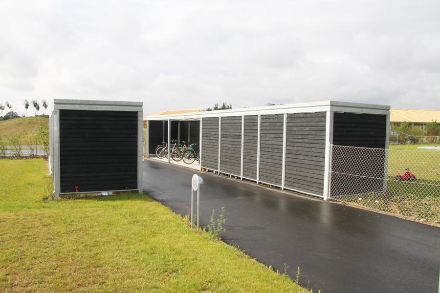 Cykelskure og opbevaring, Børnhaven Bernts Have, Holbæk