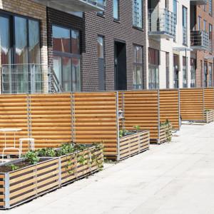 Hegn og plantekummer, Frederiks Brygge, København