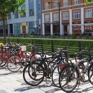 Keep cykelstativ fra Flexys i Aarhus midtby.