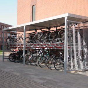 Y cykeloverdækning inkl. 2ParkUp cykelstativer, Risskov Engpark.