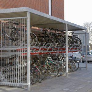 Y cykeloverdækning, Risskov Engpark med 2ParkUp dobbelt cykelparkering